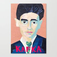 kafka Canvas Prints featuring Franz Kafka by Ellen Pater