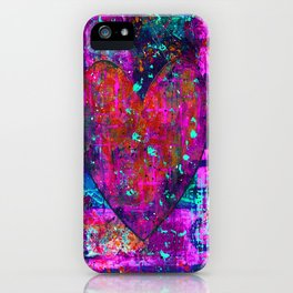 heARTFUL 2 - Mixed Media Art iPhone Case