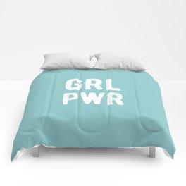 GRL PWR (Blue) Comforters
