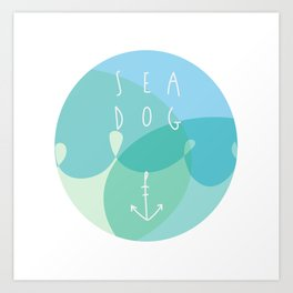 Sea Dog Art Print