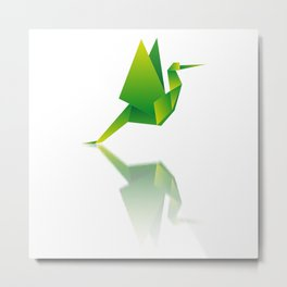 Paper Wings Metal Print