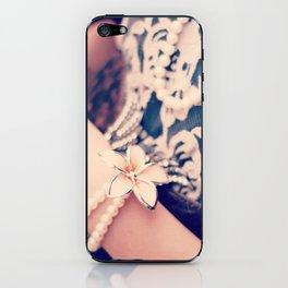 Girl, Vintage, Pearls  iPhone Skin