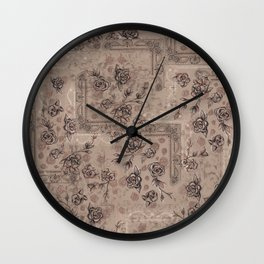 "Tapestry Floral- Colorway ""A"" Wall Clock"