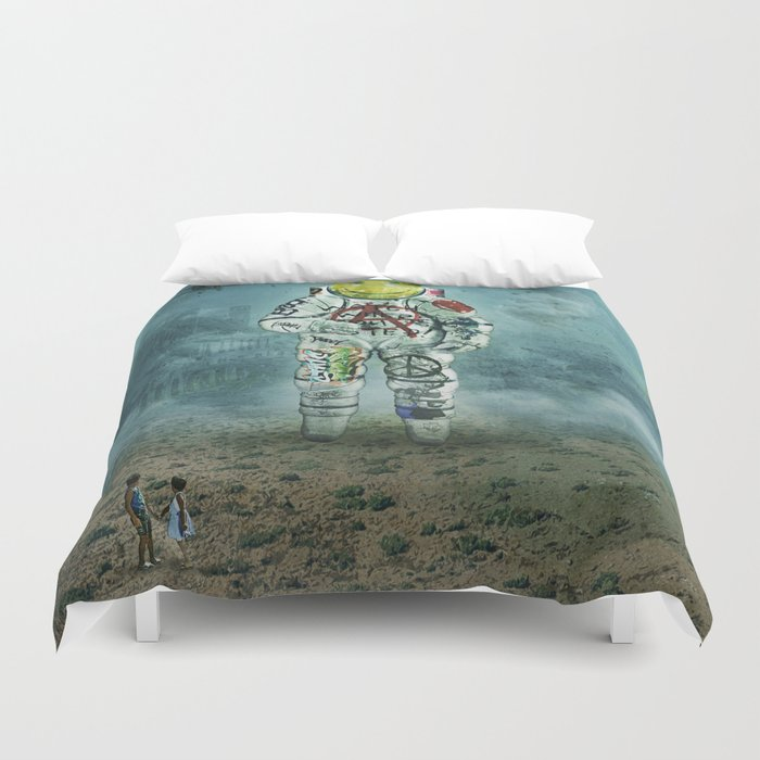watch where you step! Duvet Cover