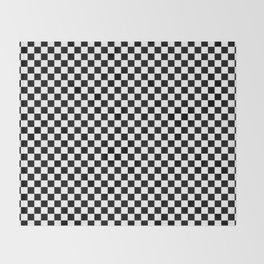 Black White Checks Minimalist Throw Blanket