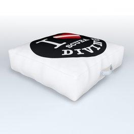 I Love Scuba Diving, Scuba Diving sticker, Outdoor Floor Cushion