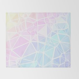 Pastel Triangles 1 Throw Blanket