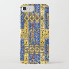 Egyptian  Gold  symbols on Lapis Lazuli iPhone Case