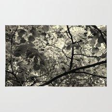 Monochrome Leaf's  Rug