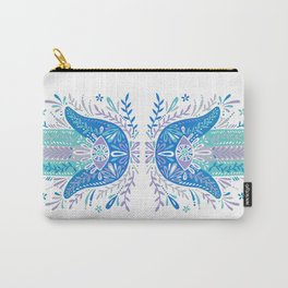 Hamsa Hand – Blue & Turquoise Palette Carry-All Pouch