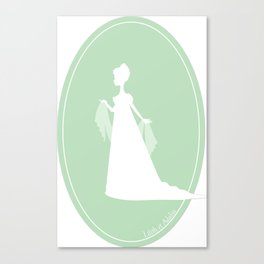 The Historical Fashion Plate Series: Regency Queen Canvas Print
