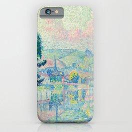 """Paul Signac """"Les Andelys. Matin. Été"""" iPhone Case"""