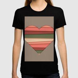 Heart Love Striped Valentine's Day T-shirt