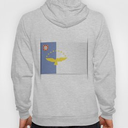 Flag of Azores. The slit in the paper with shadows. Hoody