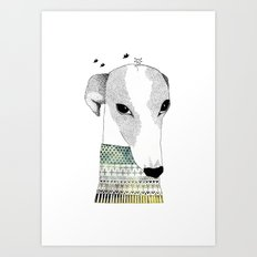 Mr. Galgo Dog Art Print