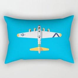 B-17 WWII Bomber - Yellow Rectangular Pillow