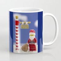 santa Mugs featuring Santa by Pedro Nogueira