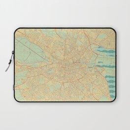 Dublin Map Retro Laptop Sleeve
