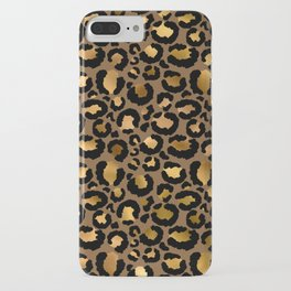 Leopard Metal Glamour Skin iPhone Case
