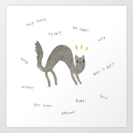 Scaredy Cat Art Print