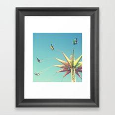 Flying Chairs at the Carnival Framed Art Print
