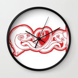 Hearts and Tongues Wall Clock