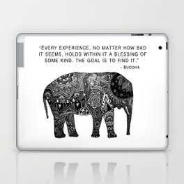 Buddha Quote with Henna Elephant Laptop & iPad Skin