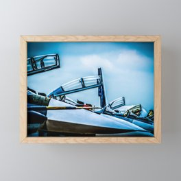 Raised Canopies Of Modern Fighter Aircrafts Framed Mini Art Print