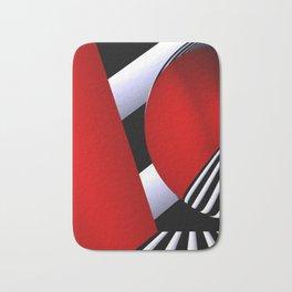red white black -22- Bath Mat