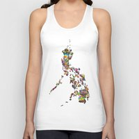 philippines Tank Tops featuring 7,107 Islands | A Map of the Philippines by QUEQZZ