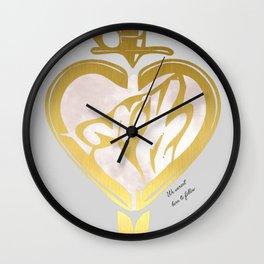 Heart N Dagger Wolf Wall Clock