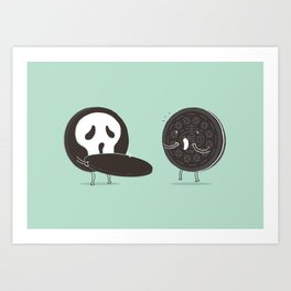 Cookies and Scream Art Print