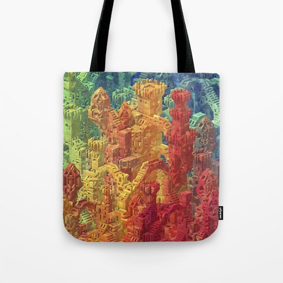 Castle Block Tote Bag