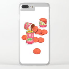 Haw Flakes Clear iPhone Case