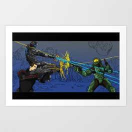 DRAW YOUR WEAPONS Art Print