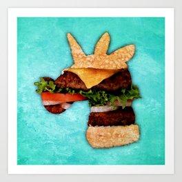Unicorn Burger Art Print
