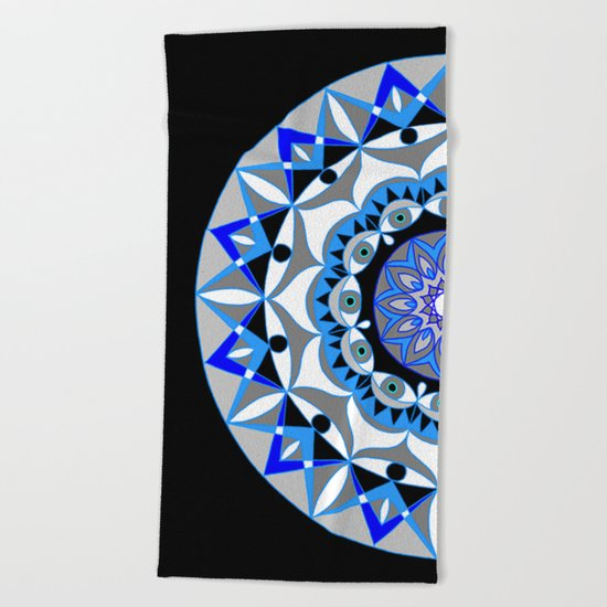 My Peace Mandhala | Secret Geometry | Energy Symbols Beach Towel