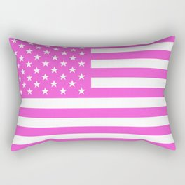 U.S. Flag: Pink Rectangular Pillow