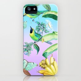 Gia in the Jungle - Blue iPhone Case