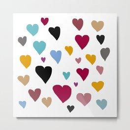 Hearts in Hues Metal Print