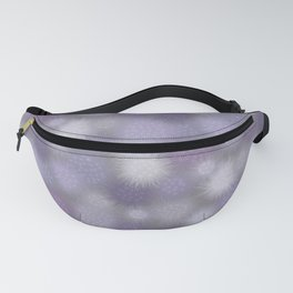 Poof Balls in Lavender and Gray Fanny Pack