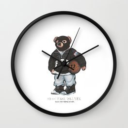 ftp bear Wall Clock