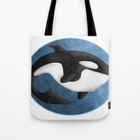 orca Tote Bags featuring Orca by S*TRU