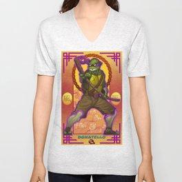 Donatello Teenage -classic face - Mutant Ninja Turtles TMNT Unisex V-Neck
