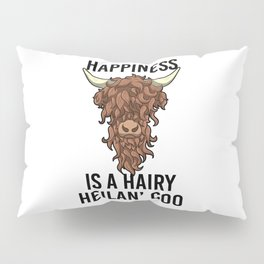 Happiness Is A Harry Heilan' Coo Highland Cow Pillow Sham