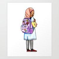 Hijab girl Art Print