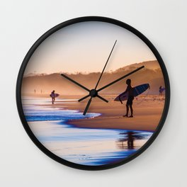 Surfing in the paradise Wall Clock
