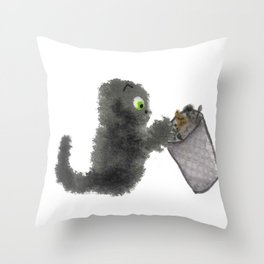 Sooty's Rummage Sale Throw Pillow