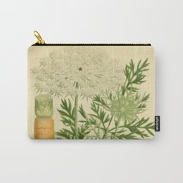 Botanical Wild Carrot  Carry-All Pouch