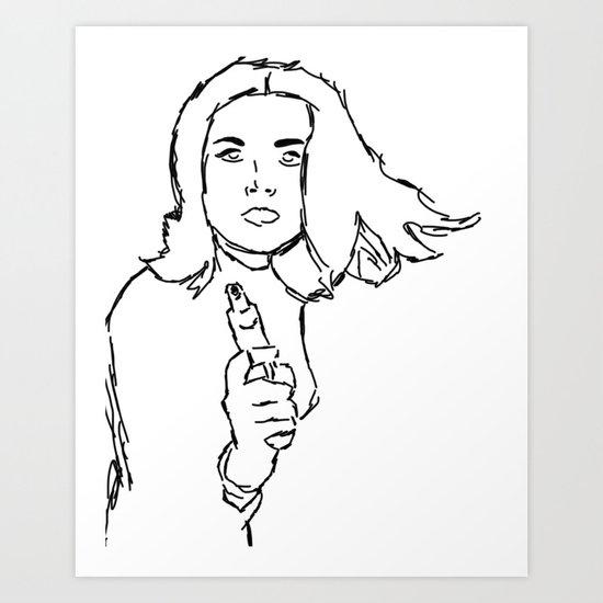 Emma Peel Art Print
